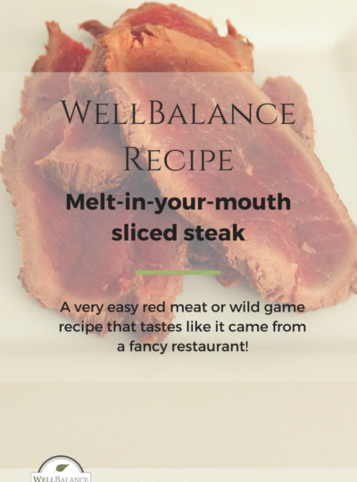 Melt-in-your-mouth sliced steak