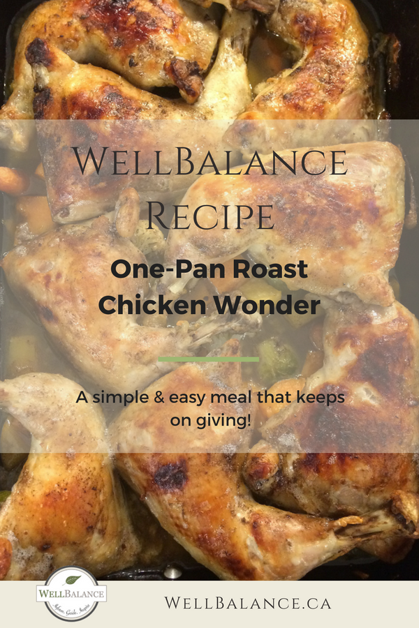 One pan roast chicken wonder: a simple & easy meal that keeps on giving!