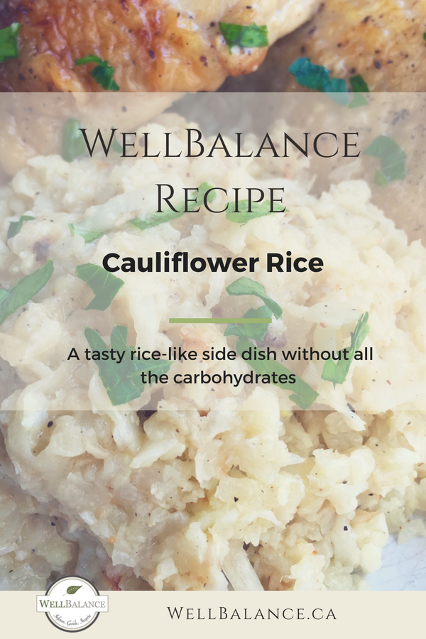 Cauliflower Rice WellBalance Recipe