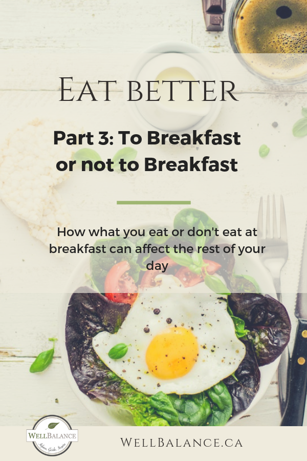 Eat Better Part 3: To breakfast or not to breakfast. What is best?