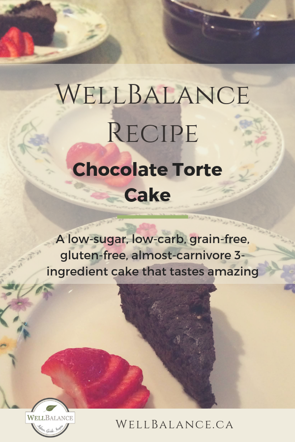 Chocolate Torte Cake: a WellBalance recipe that is low in sugar, grain-free, but full of taste