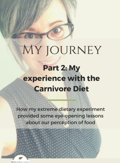My Journey Part 2: My experience with the Carnivore Diet