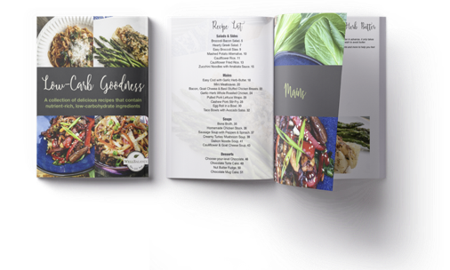 Low Carb Goodness recipe collection table of contents recipe list
